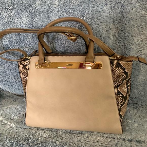 bb89bdda290 Aldo Handbags - Aldo bag with faux luxury snake skin side panels